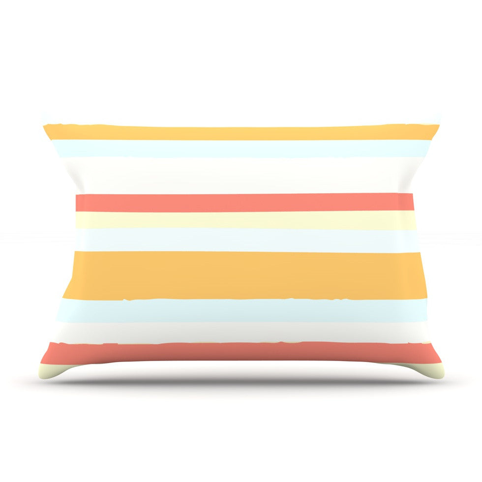 "Nika Martinez ""Sand Stripes"" Pillow Sham - KESS InHouse"