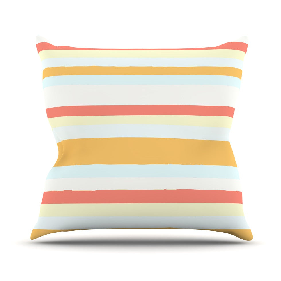 "Nika Martinez ""Sand Stripes"" Throw Pillow - KESS InHouse  - 1"