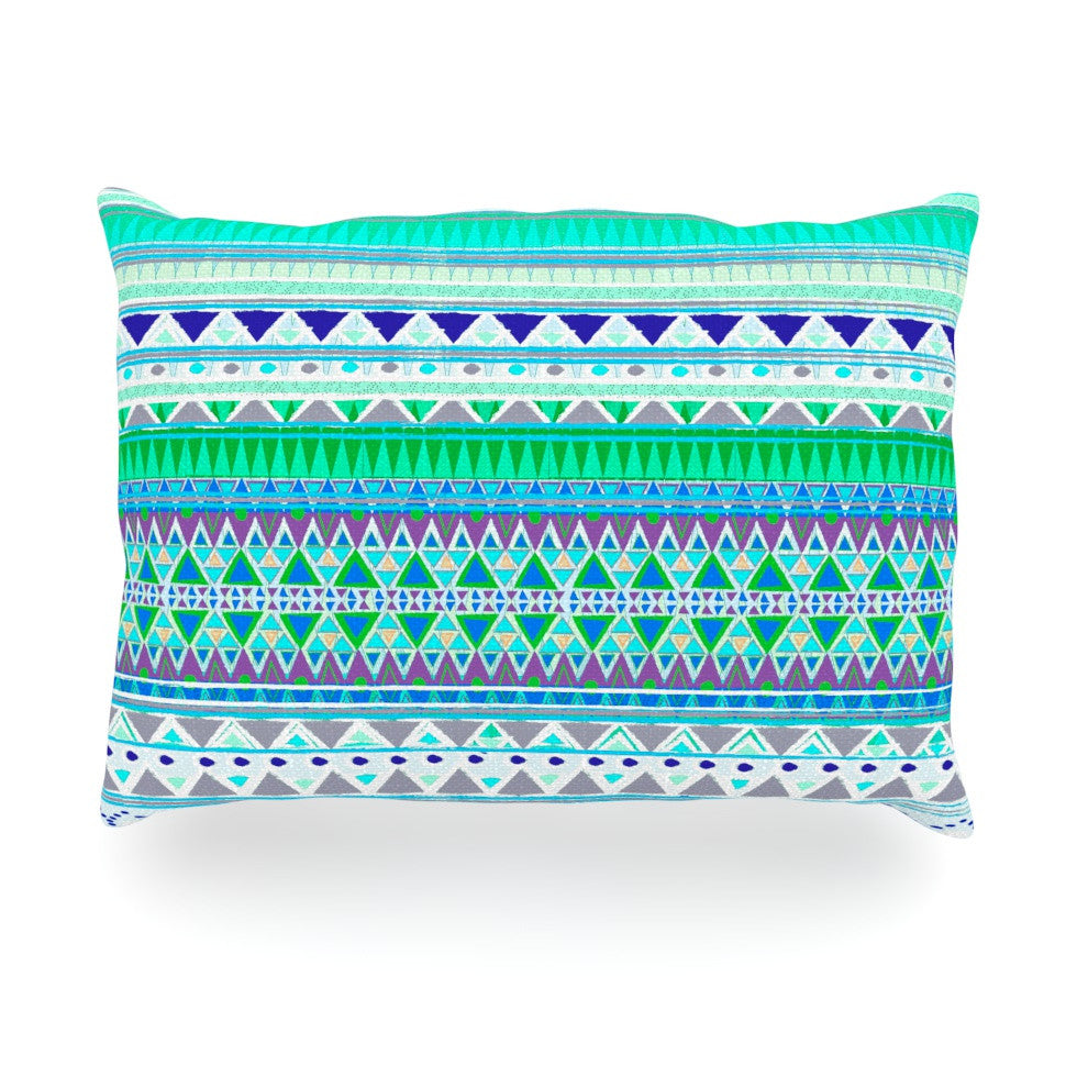 "Nika Martinez ""Emerald Chenoa"" Oblong Pillow - KESS InHouse"