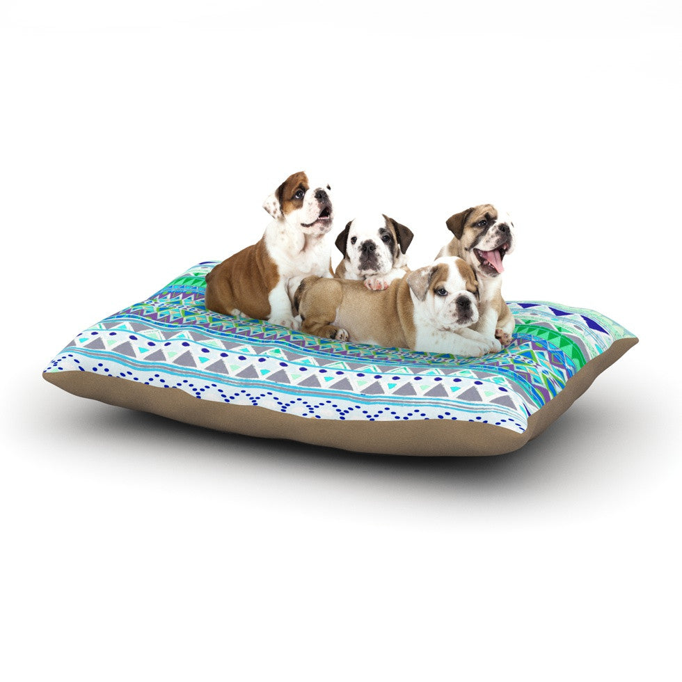 "Nika Martinez ""Emerald Chenoa"" Dog Bed - KESS InHouse  - 1"