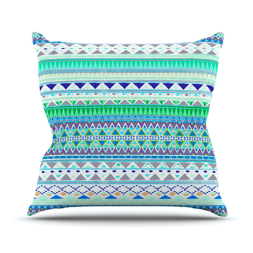 "Nika Martinez ""Emerald Chenoa"" Outdoor Throw Pillow - KESS InHouse  - 1"