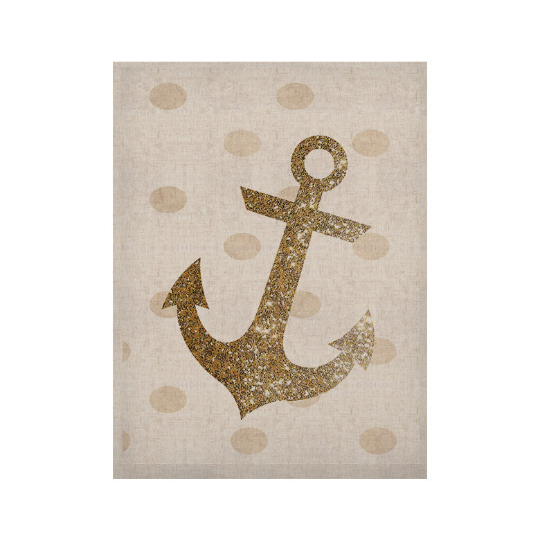 "Nika Martinez ""Glitter Anchor"" Gold Sparkles KESS Naturals Canvas (Frame not Included) - KESS InHouse  - 1"