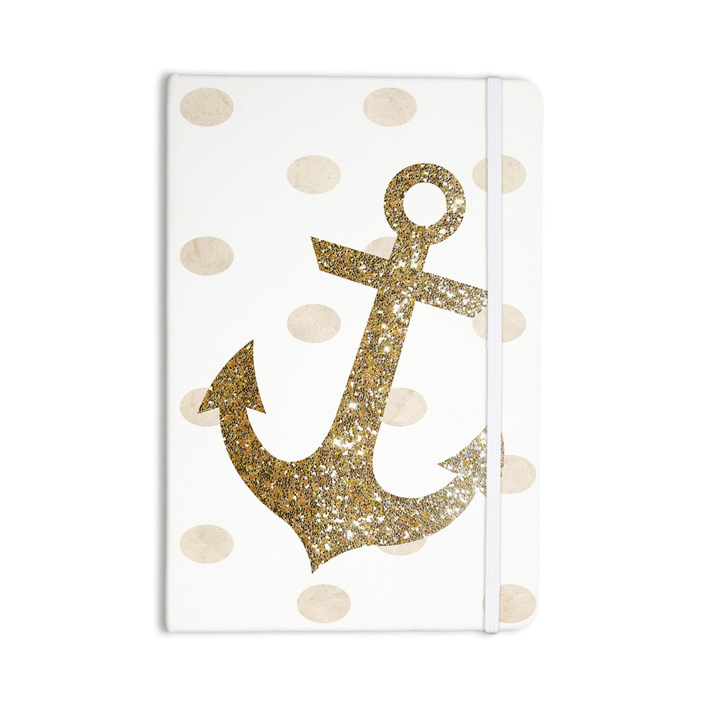 "Nika Martinez ""Glitter Anchor"" Gold Sparkles Everything Notebook - KESS InHouse  - 1"