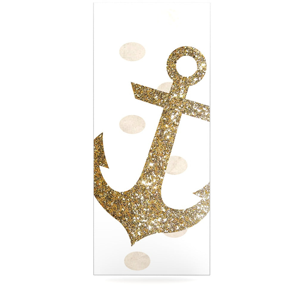 "Nika Martinez ""Glitter Anchor"" Gold Sparkles Luxe Rectangle Panel - KESS InHouse  - 1"