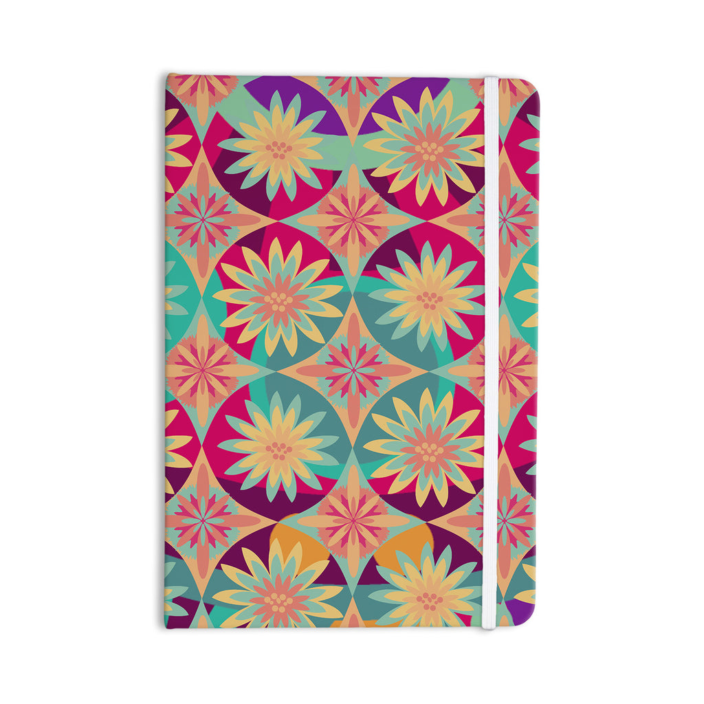 "Nika Martinez ""Happy Flowers"" Floral Abstract Everything Notebook - KESS InHouse  - 1"