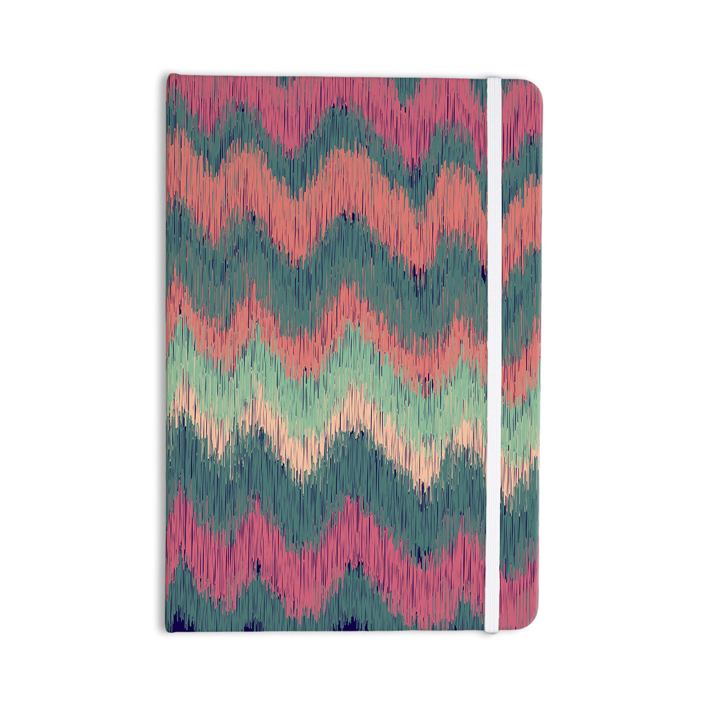 "Nika Martinez ""Ikat Chevron"" Multicolor Everything Notebook - KESS InHouse  - 1"