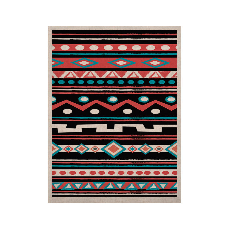 "Nika Martinez ""Black Tipi"" Red Tribal KESS Naturals Canvas (Frame not Included) - KESS InHouse  - 1"