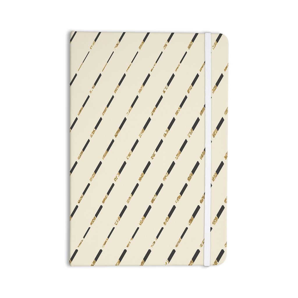 "Nika Martinez ""Glitter Diagonals in Gold"" Tan Everything Notebook - KESS InHouse  - 1"