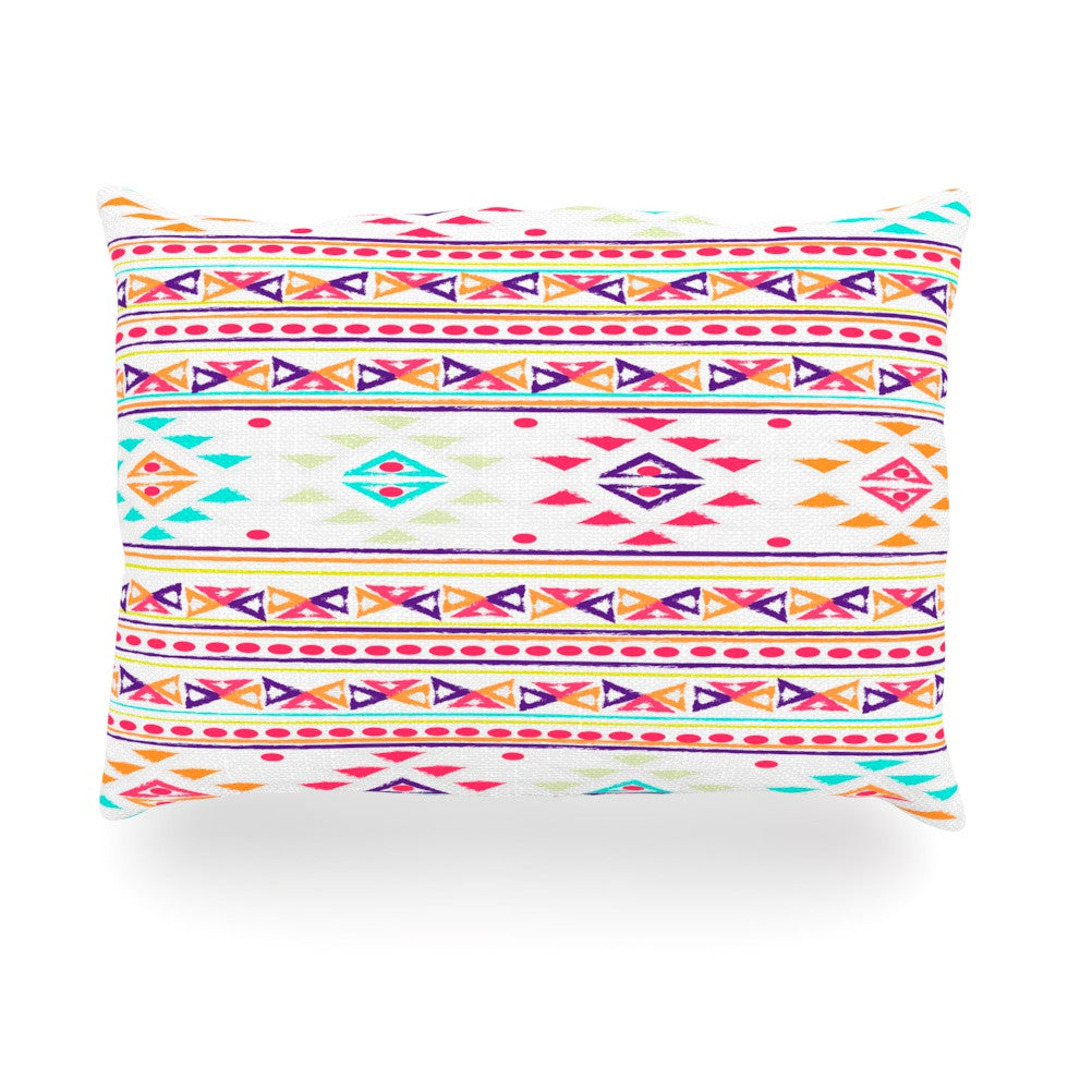 "Nika Martinez ""Aylen"" Tribal Oblong Pillow - KESS InHouse"