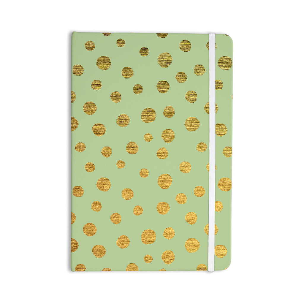 "Nika Martinez ""Golden Dots and Mint"" Green Gold Everything Notebook - KESS InHouse  - 1"