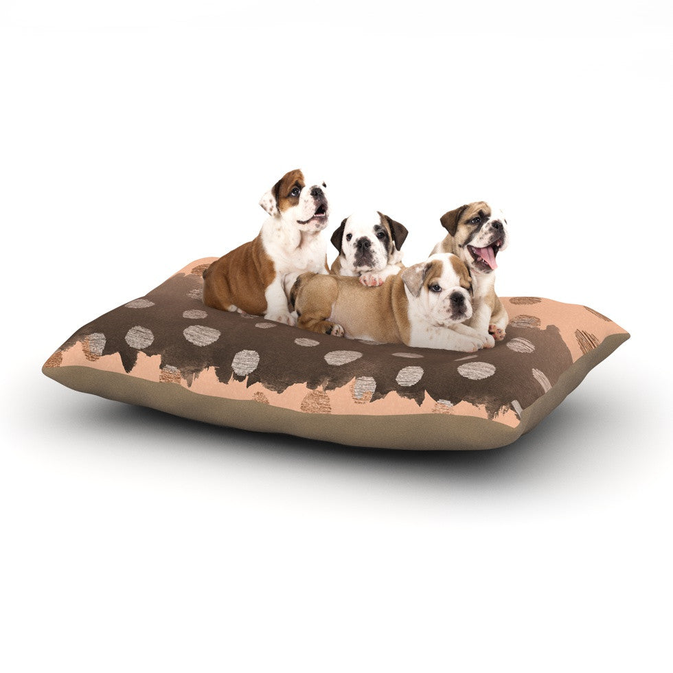 "Nika Martinez ""Earth Dots"" Brown Dog Bed - KESS InHouse  - 1"