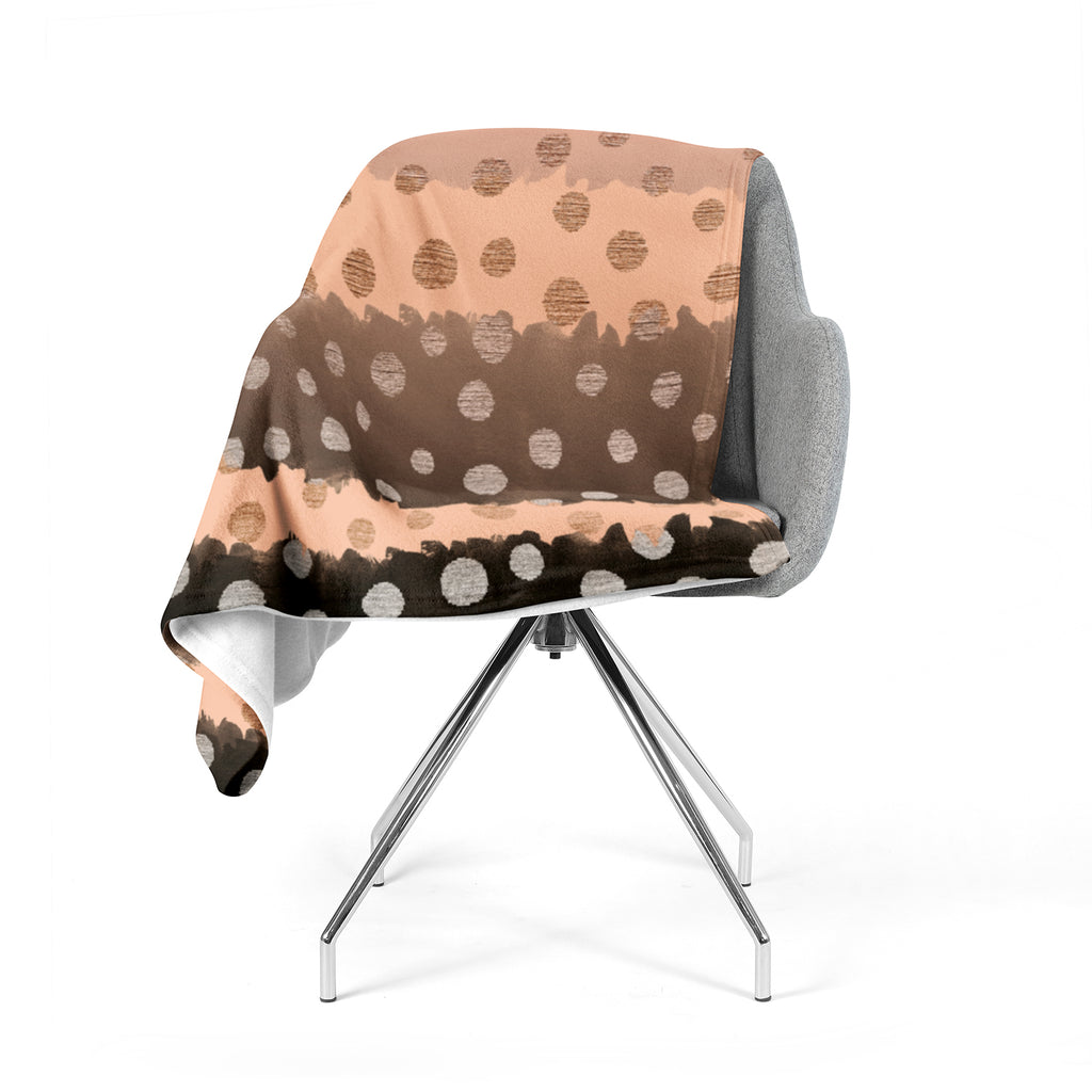 "Nika Martinez ""Earth Dots"" Brown Fleece Throw Blanket"