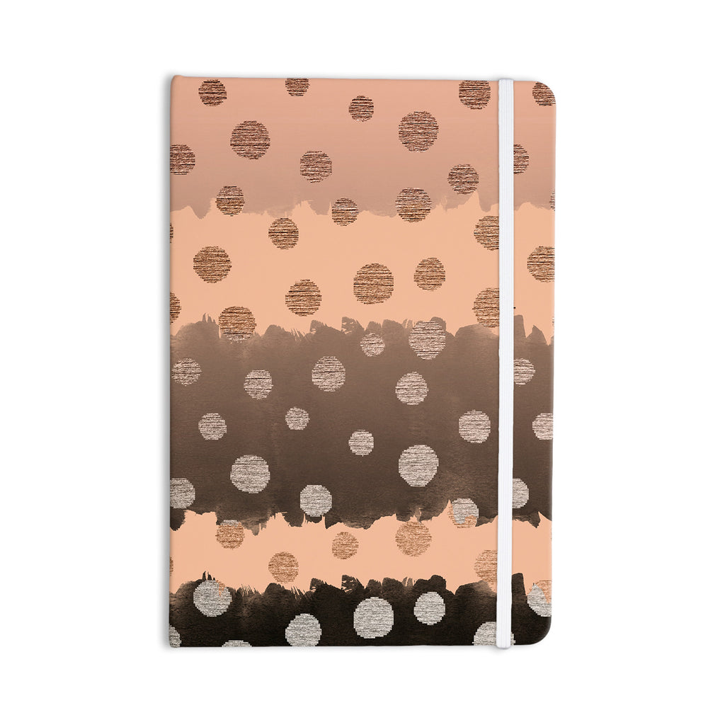 "Nika Martinez ""Earth Dots"" Brown Everything Notebook - KESS InHouse  - 1"