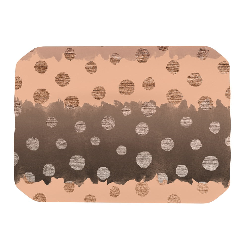 "Nika Martinez ""Earth Dots"" Brown Place Mat - KESS InHouse"