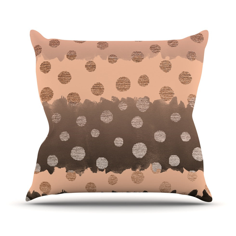 "Nika Martinez ""Earth Dots"" Brown Throw Pillow - KESS InHouse  - 1"