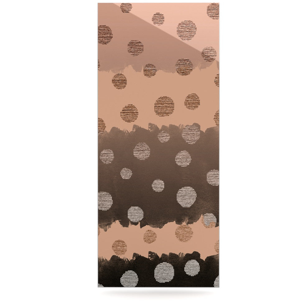 "Nika Martinez ""Earth Dots"" Brown Luxe Rectangle Panel - KESS InHouse  - 1"