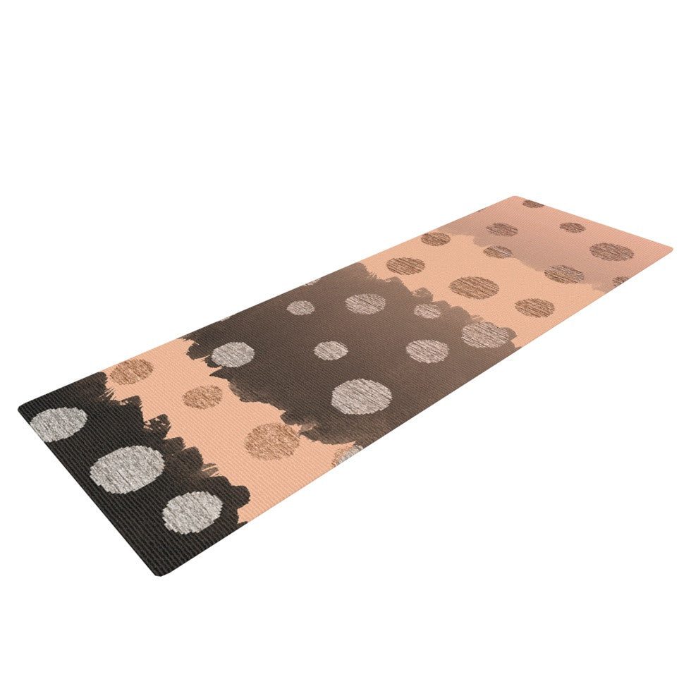 "Nika Martinez ""Earth Dots"" Brown Yoga Mat - KESS InHouse  - 1"