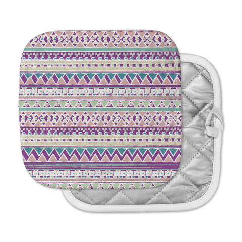 "Nika Martinez ""Boho Ibiza"" Pastel Pink Pot Holder"