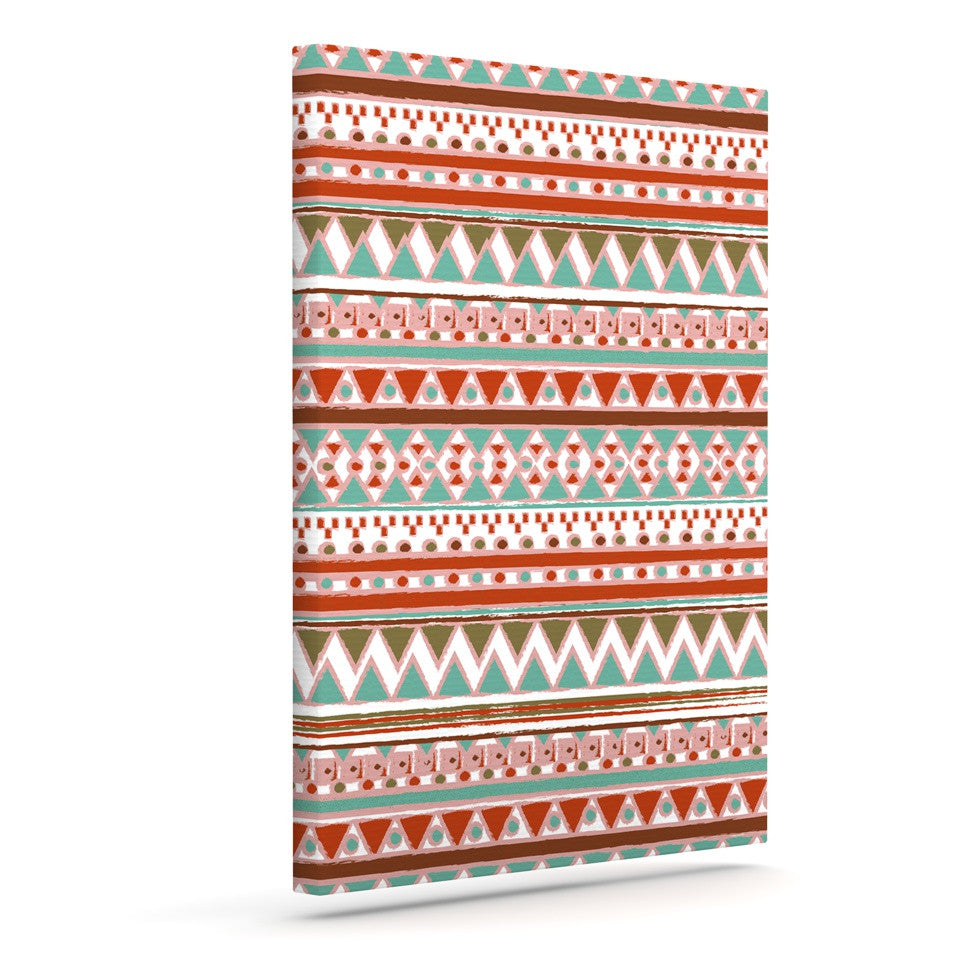 "Nika Martinez ""Boho Mallorca"" Red Multicolor Canvas Art - KESS InHouse  - 1"
