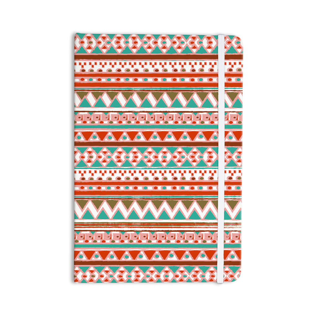 "Nika Martinez ""Boho Mallorca"" Red Multicolor Everything Notebook - KESS InHouse  - 1"
