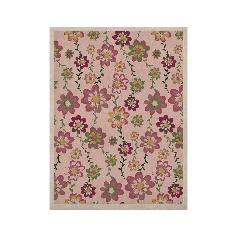"Nika Martinez ""Romantic Flowers in Pink"" Blush Floral KESS Naturals Canvas (Frame not Included) - KESS InHouse  - 1"