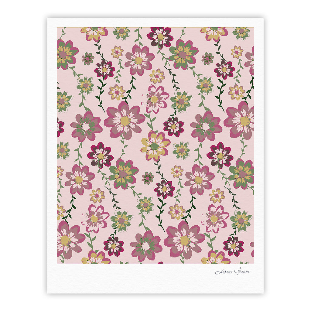 "Nika Martinez ""Romantic Flowers in Pink"" Blush Floral Fine Art Gallery Print - KESS InHouse"