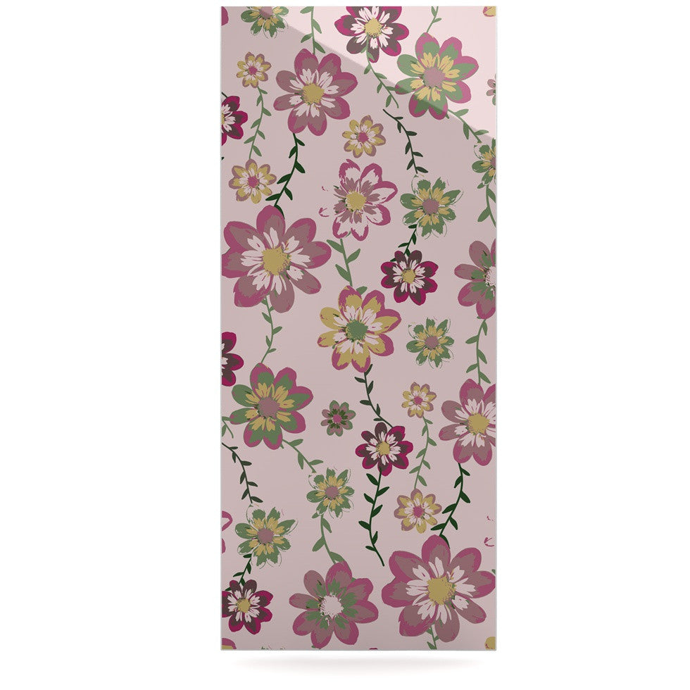 "Nika Martinez ""Romantic Flowers in Pink"" Blush Floral Luxe Rectangle Panel - KESS InHouse  - 1"