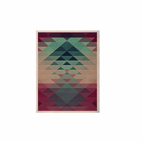 "Nika Martinez ""Hipster"" Maroon Teal KESS Naturals Canvas (Frame not Included) - KESS InHouse  - 1"