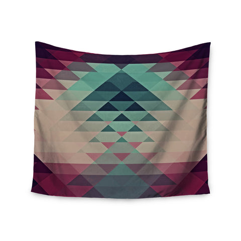 "Nika Martinez ""Hipster"" Maroon Teal Wall Tapestry - KESS InHouse  - 1"