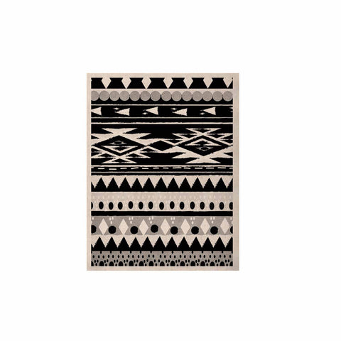 "Nika Martinez ""Black Hurit"" Gray White KESS Naturals Canvas (Frame not Included) - KESS InHouse  - 1"