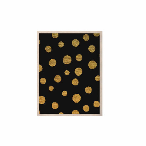 "Nika Martinez ""Golden Dots in Black"" Yellow KESS Naturals Canvas (Frame not Included) - KESS InHouse  - 1"