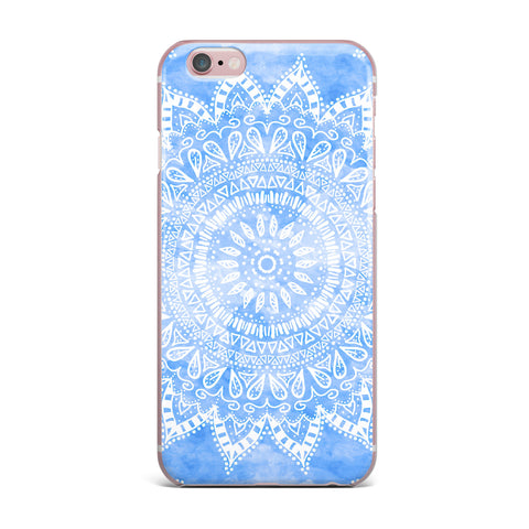 "Nika Martinez ""Boho Flower Mandala in Blue"" Aqua iPhone Case - KESS InHouse"