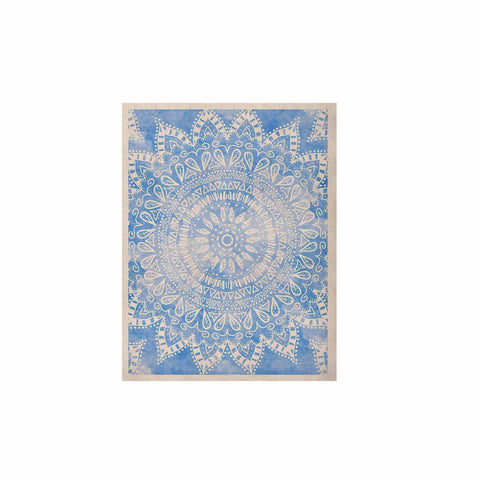 "Nika Martinez ""Boho Flower Mandala in Blue"" Aqua KESS Naturals Canvas (Frame not Included) - KESS InHouse  - 1"