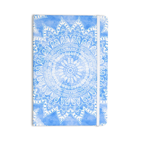 "Nika Martinez ""Boho Flower Mandala in Blue"" Aqua Everything Notebook - KESS InHouse  - 1"