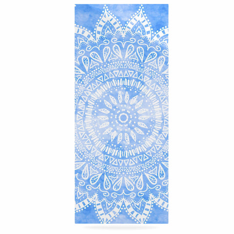 "Nika Martinez ""Boho Flower Mandala in Blue"" Aqua Luxe Rectangle Panel - KESS InHouse  - 1"