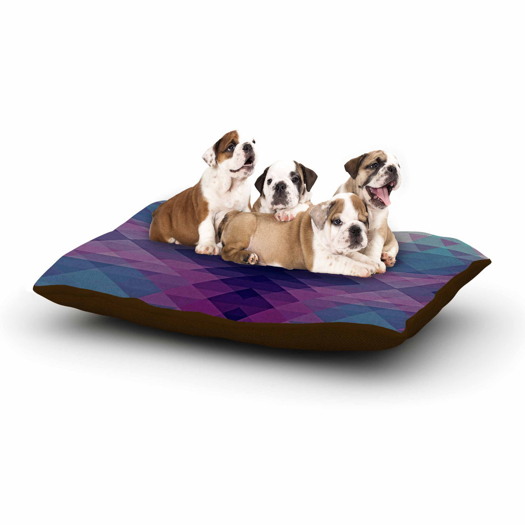 "Nika Martinez ""Hipsterland II"" Purple Teal Dog Bed - KESS InHouse  - 1"