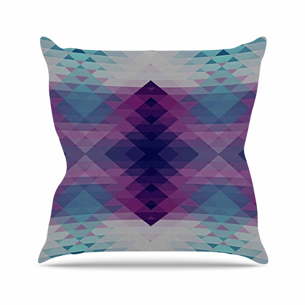 "Nika Martinez ""Hipsterland II"" Purple Teal Outdoor Throw Pillow - KESS InHouse  - 1"