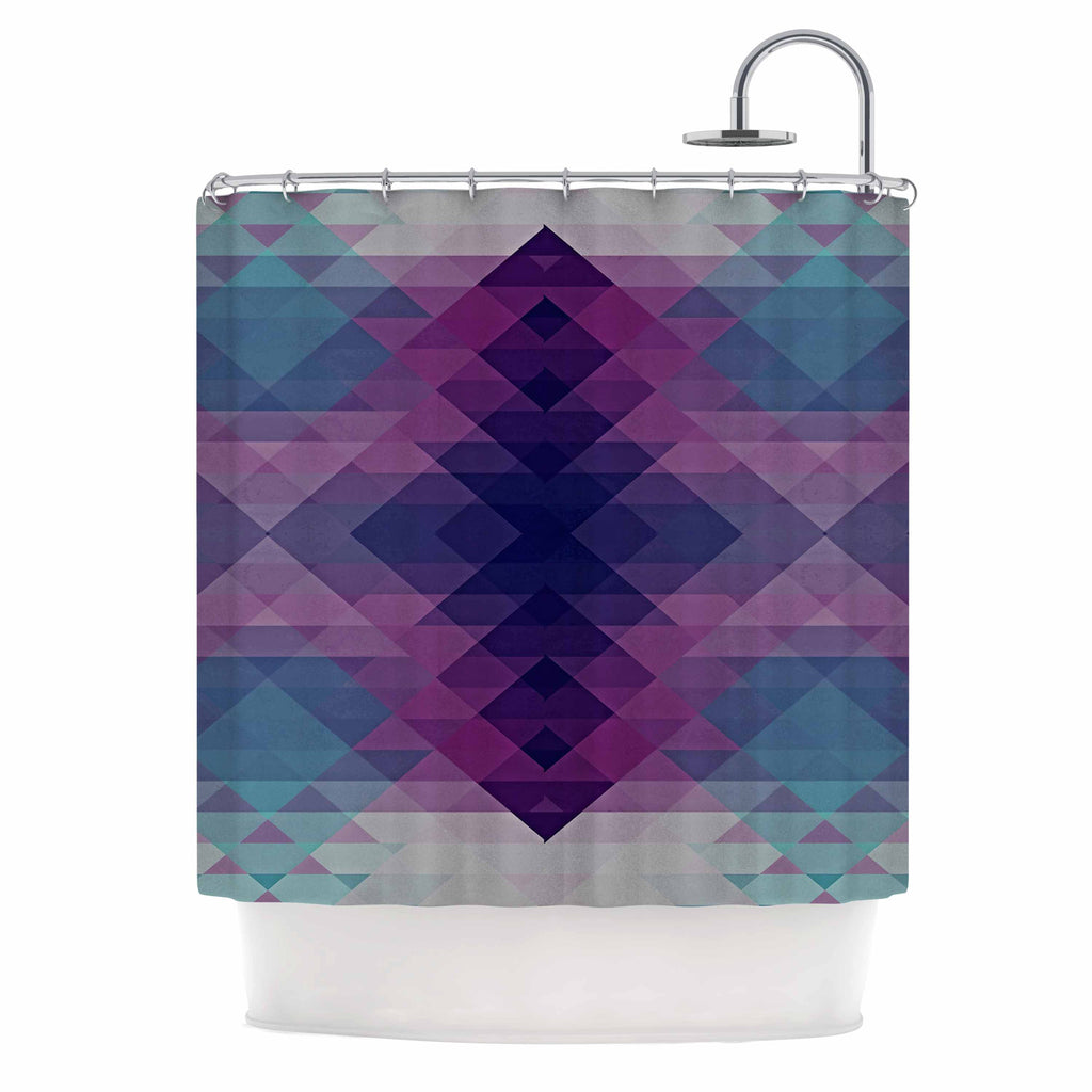"Nika Martinez ""Hipsterland II"" Purple Teal Shower Curtain - KESS InHouse"