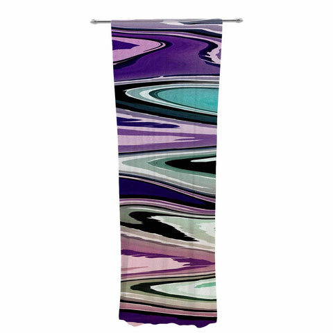 "Nika Martinez ""Colorful Beach Waves"" Abstract Purple Decorative Sheer Curtain - KESS InHouse  - 1"