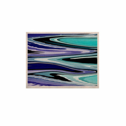 "Nika Martinez ""Beach Waves"" Teal Abstract KESS Naturals Canvas (Frame not Included) - KESS InHouse  - 1"