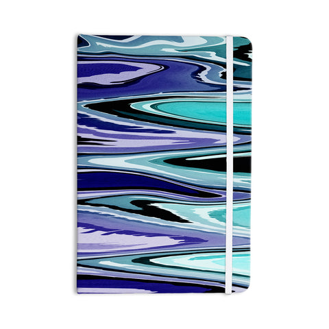 "Nika Martinez ""Beach Waves"" Teal Abstract Everything Notebook - KESS InHouse  - 1"