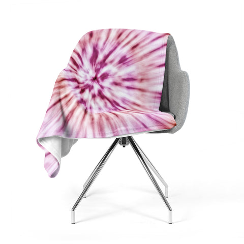 "Nika Martinez ""Spring Tie Dye"" Pink Urban Fleece Throw Blanket"