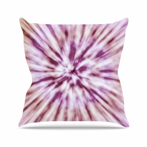 "Nika Martinez ""Spring Tie Dye"" Pink Urban Outdoor Throw Pillow - KESS InHouse  - 1"