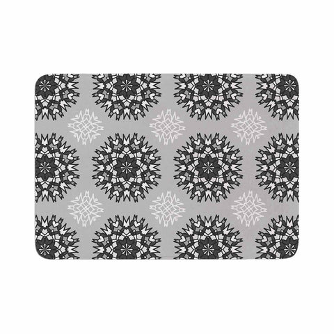 "Nika Martinez ""Princess BW"" Gray Vector Memory Foam Bath Mat - KESS InHouse"