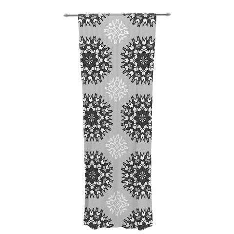 "Nika Martinez ""Princess BW"" Gray Vector Decorative Sheer Curtain - KESS InHouse  - 1"