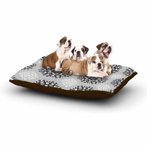 "Nika Martinez ""Princess BW"" Gray Vector Dog Bed - KESS InHouse  - 1"