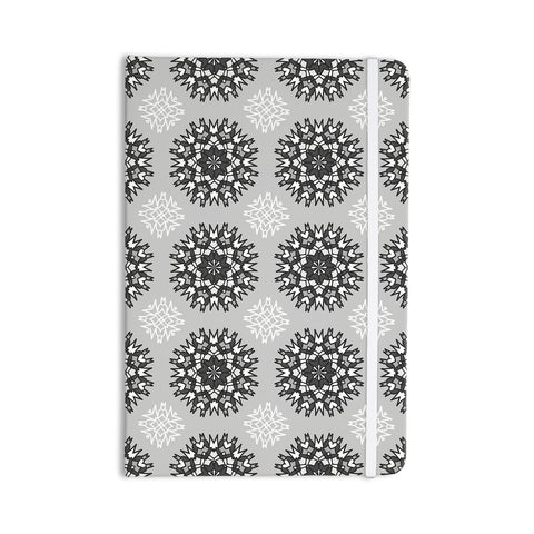 "Nika Martinez ""Princess BW"" Gray Vector Everything Notebook - KESS InHouse  - 1"