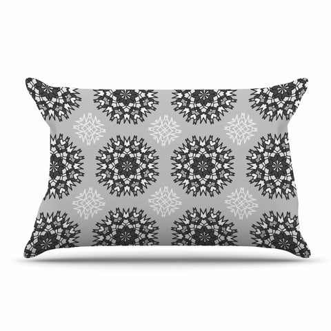 "Nika Martinez ""Princess BW"" Gray Vector Pillow Sham - KESS InHouse  - 1"