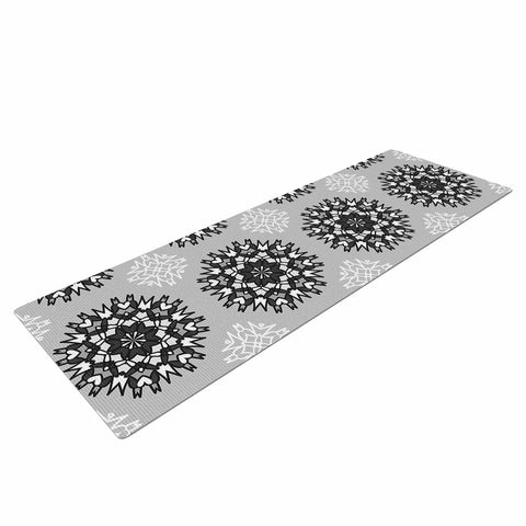 "Nika Martinez ""Princess BW"" Gray Vector Yoga Mat - KESS InHouse  - 1"