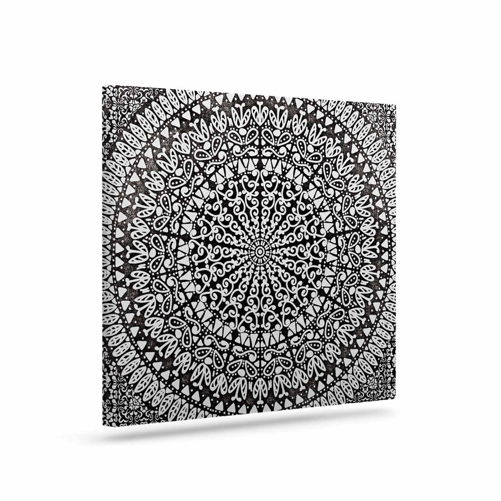 "Nika Martinez ""Mandala Bandana"" Black Abstract Canvas Art - KESS InHouse  - 1"